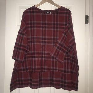 Plaid babydoll shirt